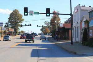 Main Street in O'Fallon, Missouri via Missouri BIke Fed