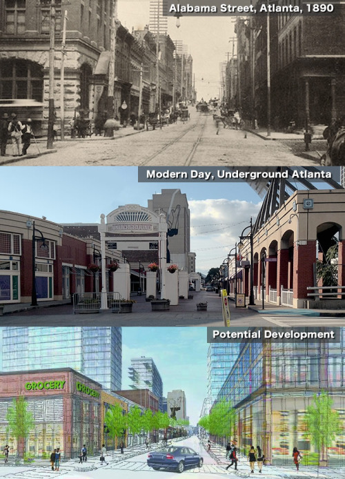 "The failed mall ""Underground Atlanta"" was once a busy urban corner, and it could be again soon. Image: ATL Urbanist"