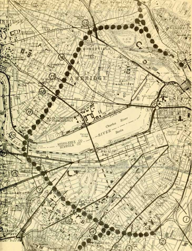 What would Boston be like today had the Inner Belt Highway been built? Map via TransitCenter