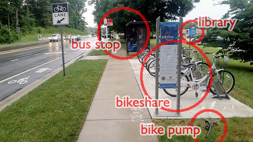 "College Park, Maryland's ""Bus Stop of the Future."" Image: Beyond DC/Flickr"