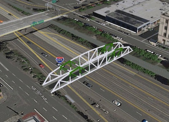 Portland's newest car-free bridge will complete a key bike route. Image via Bike Portland